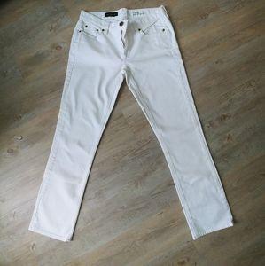 J.Crew White Matchstick Jeans 29S
